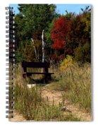 Fall Bench Dreams Spiral Notebook