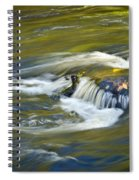 Fall Colors In River Rapids Spiral Notebook