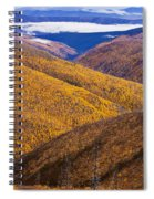Fall Colours Along Top Of The World Spiral Notebook