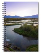 Fall Creek Panorama Spiral Notebook