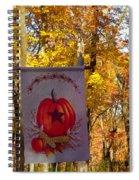 Fall Flag 1 Spiral Notebook