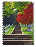 Fall In Arlington Cemetery  Spiral Notebook