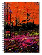 Fall In Red Spiral Notebook