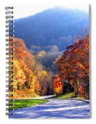 Fall Road 2 Spiral Notebook