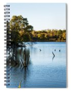 Fall Sunset At Standing Bear Lake Spiral Notebook