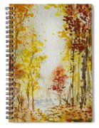 Fall Tree In Autumn Forest  Spiral Notebook