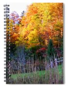 Fall Trees And Fence Spiral Notebook