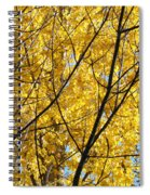 Fall Trees Art Prints Yellow Autumn Leaves Spiral Notebook