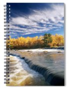 Fall Trees, Rainbow Falls, Whiteshell Spiral Notebook
