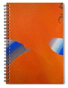 Falling Blue Spiral Notebook