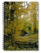 Falling Fences  Spiral Notebook