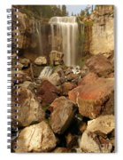 Falling In The Rocks Spiral Notebook