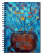 Falling Into Blue Spiral Notebook