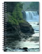 Falling Into The Genesee Spiral Notebook