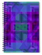 Falling Magenta 2 Spiral Notebook