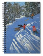 Falling Off The Sledge Spiral Notebook