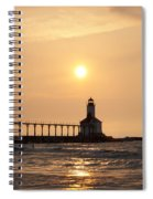 Falling On The Lighthouse Spiral Notebook