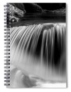 Falling Water Black And White Spiral Notebook