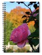 Fall's Final Rose Spiral Notebook