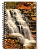 Falls In The Woods Spiral Notebook