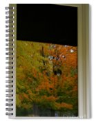 Fall's Reflective Moment Spiral Notebook