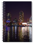 False Creek At Night Spiral Notebook