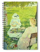 Family In The Orchard Spiral Notebook