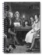 Family Reading, 1840 Spiral Notebook