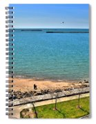 Family Time At The Erie Basin Marina Spiral Notebook