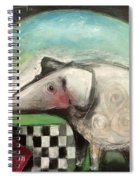 Fancy Dog At Picnic With Water Dish Spiral Notebook
