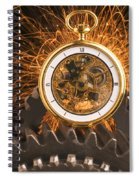 Fancy Pocketwatch On Gears Spiral Notebook