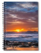 Farewell To Autumn Sun Spiral Notebook
