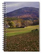 Farm By Ascutney Mountain Vermont Spiral Notebook