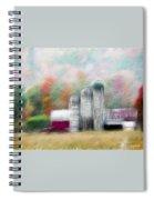 Farm In Fractals Spiral Notebook