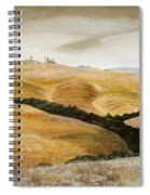 Farm On Hill - Tuscany Spiral Notebook