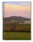 Farm Scene From Knoll On Rt. 41  Spiral Notebook