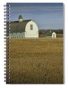 Farm Scene With White Barn Spiral Notebook