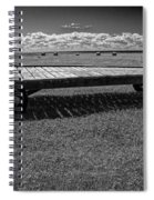 Farm Wagon In A Field On Prince Edward Island Spiral Notebook