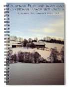 Farmer's Christmas Spiral Notebook