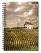 Farmhouse And Cornfield Spiral Notebook