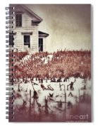 Farmhouse In Winter Spiral Notebook