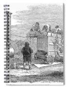 Farming: Threshing, 1851 Spiral Notebook