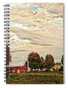 Farms From The Fifties Spiral Notebook