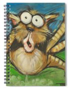 Farting Feline Spiral Notebook