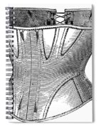 Fashion: Corset, 1869 Spiral Notebook