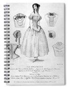 Fashion: Corset, C1850 Spiral Notebook