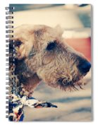 Airedale On The Fashion Runway Spiral Notebook