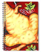 Fat Cat On A Cushion - Orange Cat Spiral Notebook