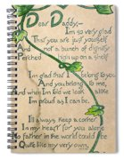 Fathers Day Card, 1912 Spiral Notebook