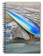 Fathers Day Greeting Card - Vintage Floyd Roman Nike Fishing Lure Spiral Notebook